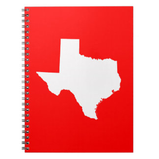 Red and White Texas Notebook