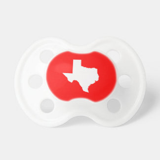 Red and White Texas Pacifier