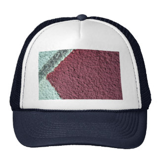 Red And White Texture (Wall) Mesh Hat