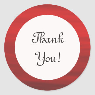 "Red and White ""Thank You!"" Sticker"