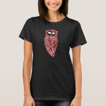 Red and White The Majestic Owl T-Shirt
