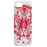 Red and White Tiger Face Close Up iPhone 5 Case