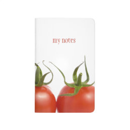 Red and White Tomatoes Pocket Journal