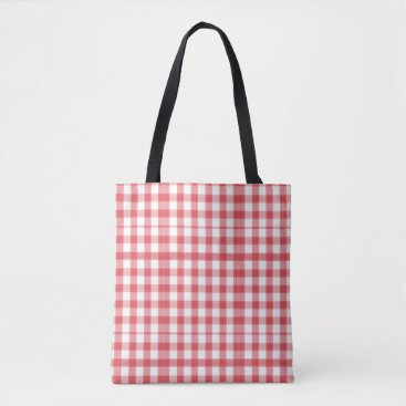 Beach Themed Red and White Tote