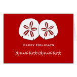 Red and White Tropical Themed Christmas Card