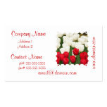Red and White Tulips Business Cards