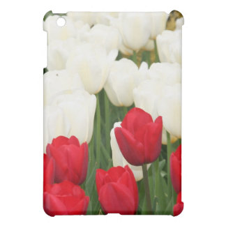 Red and White Tulips iPad Case