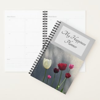 Red and White Tulips Planner