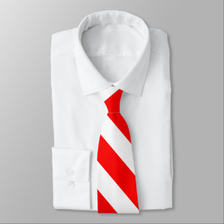 Red and White University Stripe Tie