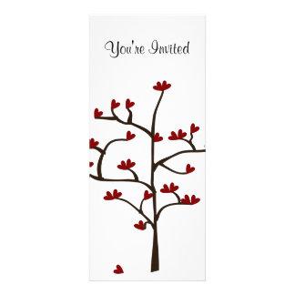 Red and White Valentine Tree Invitation