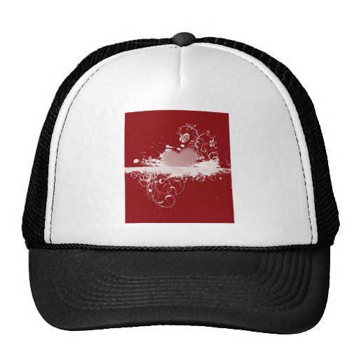 Red and White Valentine's Heart Pattern Gifts Trucker Hats
