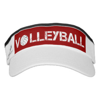 Red and White Volleyball Sport Sun Visor Headsweats Visor
