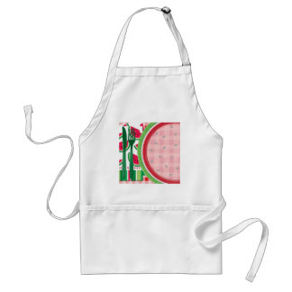 Red and White Watermelon Table Setting Adult Apron