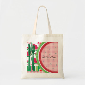 Red and White Watermelon Table Setting Tote Bag