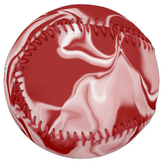 Red and White Waves Softball