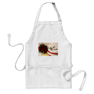 Red and White Wedding Cake Aprons
