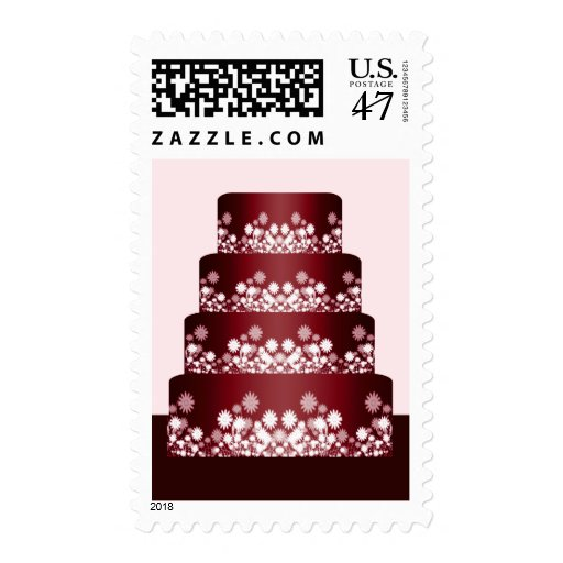 wedding cake stamp and white wedding cake stamp zazzle 25599