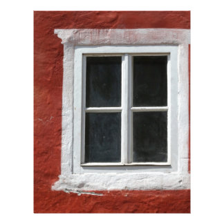 Red and White Window Letterhead
