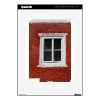 Red and White Window iPad 3 Skin