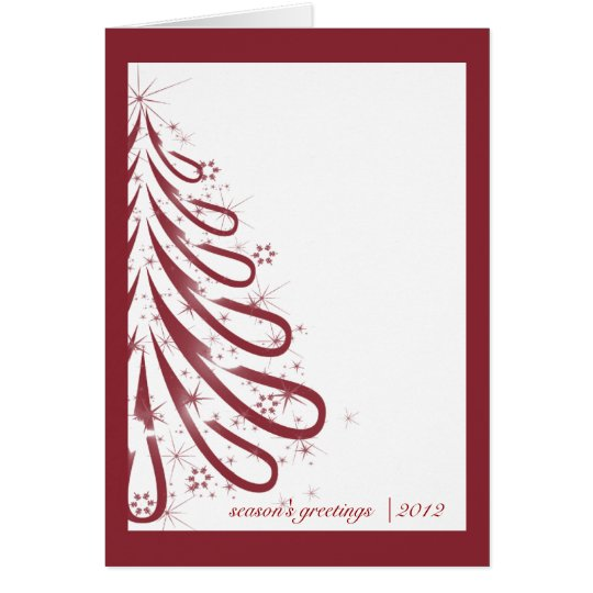 Red and White Winter Business Christmas Card