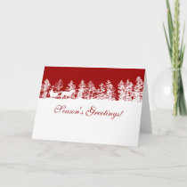Red and White Winter Christmas CArd