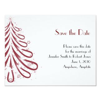 Red and White Winter Wedding Save the Date Personalized Announcement