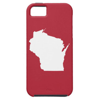 Red and White Wisconsin iPhone SE/5/5s Case
