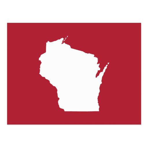 Red and White Wisconsin Postcards