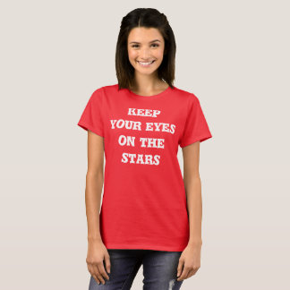 Red and white women's tshirt with writing