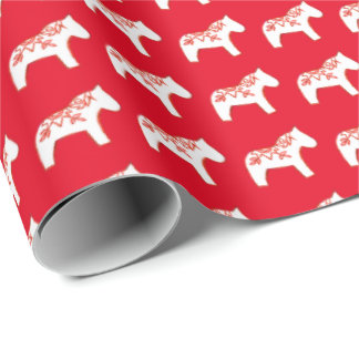 Red and White Wrapping Paper