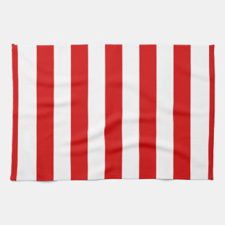 Red and White XL Stripes Pattern Towel
