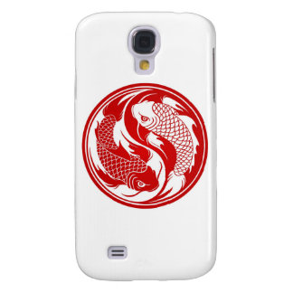 Red and White Yin Yang Koi Fish Galaxy S4 Covers