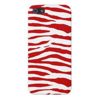Red and White Zebra Stripes iPhone SE/5/5s Cover