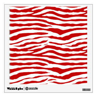 Red Zebra Wall Decals Wall Stickers Zazzle - Zebra stripe wall decals