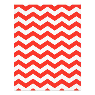 Red and White Zig Zag Letterhead