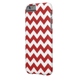 Red and White Zigzag Barely There iPhone 6 Case
