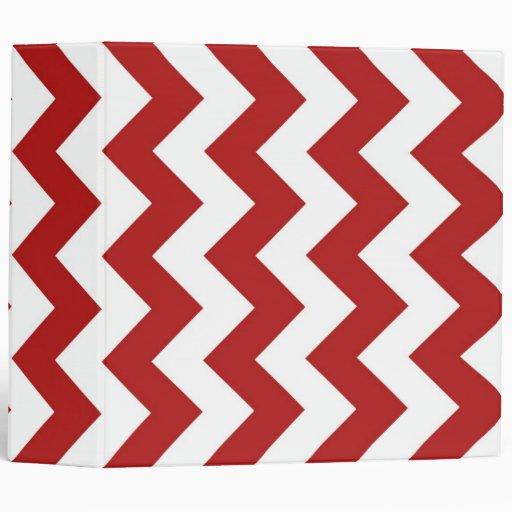 Red and White Zigzag Binder