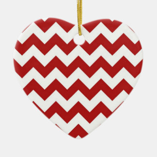 Red and White Zigzag Christmas Ornaments