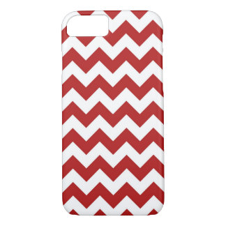 Red and White Zigzag iPhone 7 Case