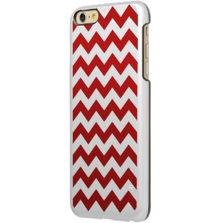 Red and White Zigzag Incipio Feather® Shine iPhone 6 Plus Case