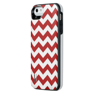 Red and White Zigzag Uncommon Power Gallery™ iPhone 5 Battery Case
