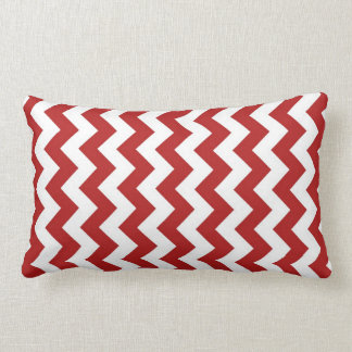Red and White Zigzag Pillow