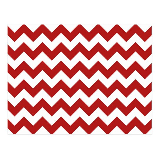 Red and White Zigzag Postcard