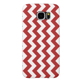 Red and White Zigzag Samsung Galaxy S6 Case