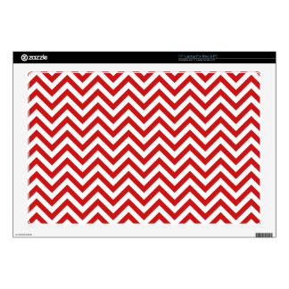 Red and White Zigzag Stripes Chevron Pattern Decal For Laptop