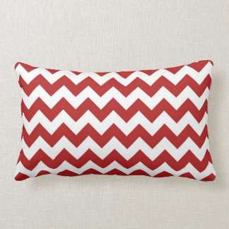 Red and White Zigzag Throw Pillow