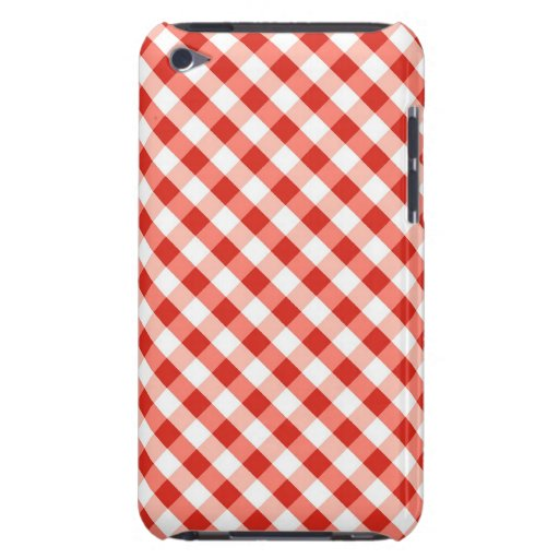 Red and Wite gingham handmade pattern Case