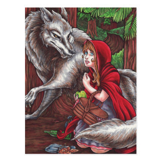 Red and Wolf Postcard