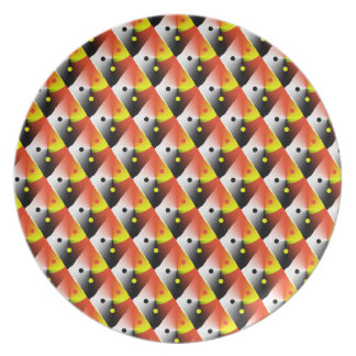 Red and Yellow 3D Pattern Dinner Plate
