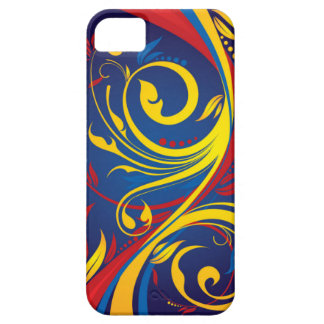 Red and Yellow Abstract Swirls iPhone 5 Case
